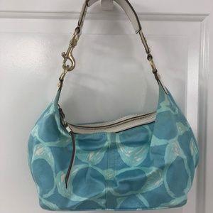 Coach, Blue Logo Shoulder Bag